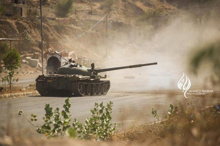 قوات الجيش الوطني تتمكن من تحرير قرية العريش في تعز