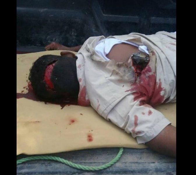 مقتل مدني بانفجار قذيفة تابعة للمليشيات الانقلابية كانت بين الاشجار بمدينة الصليف