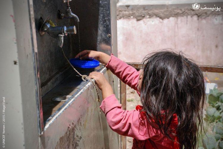 منظمة اليونيسف: 15 مليون يمني بحاجة ملحة لمياه صالحة للشرب