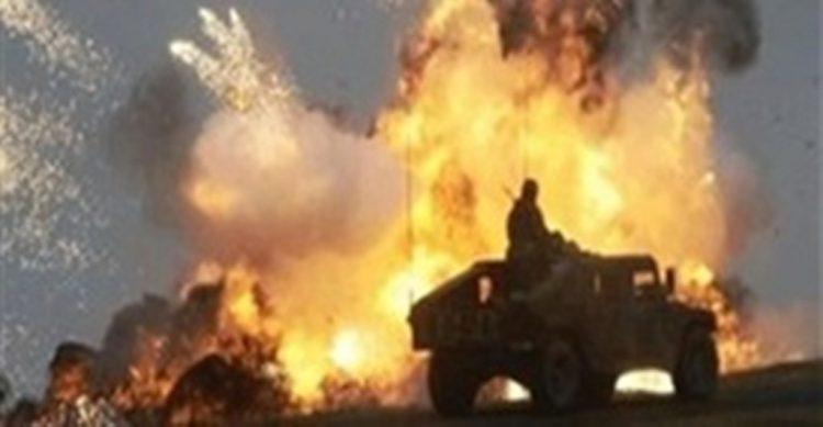 انفجار عبوة ناسفة على الية تابعة للجيش الوطني في مديرية الحزم بمحافظة الجوف