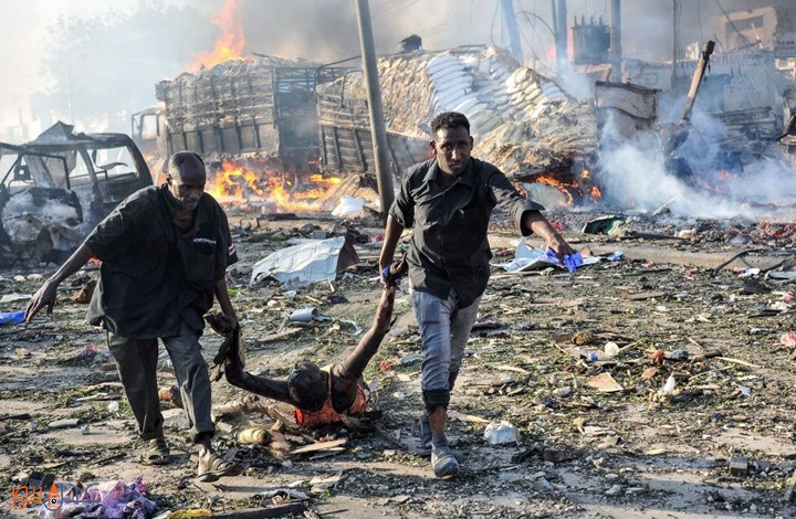 مقديشو: ارتفاع عدد ضحايا هجومي العاصمة الصومالية إلى 137 قتيلا