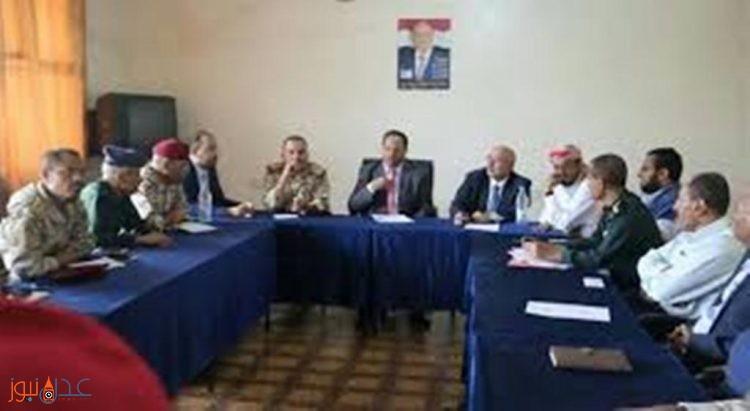 الوفد الحكومي في تعز يشكل لجنة لاستلام المؤسسات العسكرية والمدنية