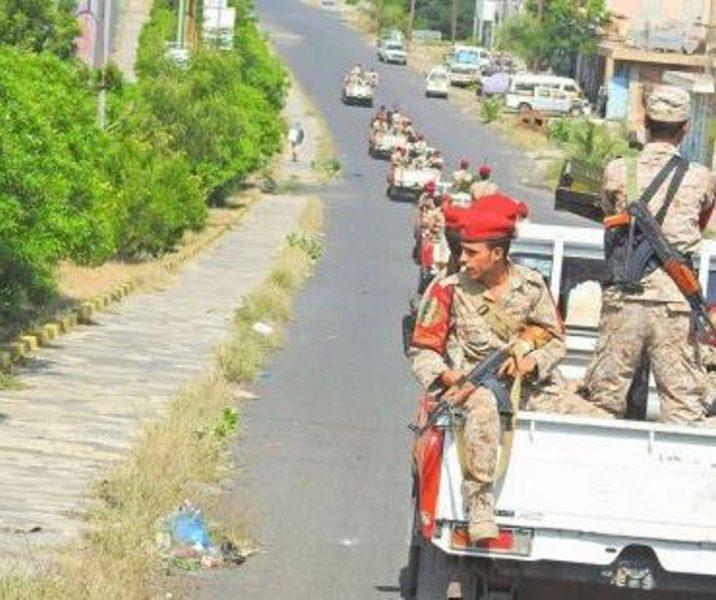 قيادة اللواء 22 ميكا تلقي القبض على خلية ارهابية في تعز