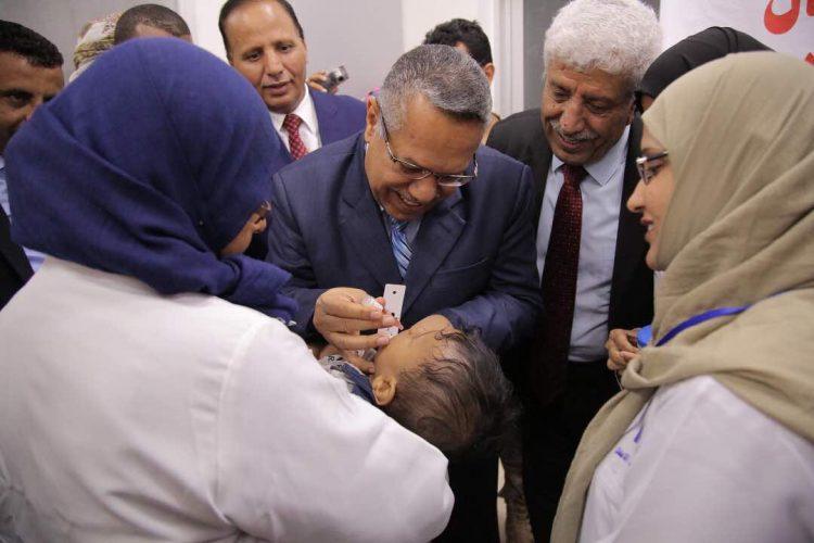 تدشين الحملة الوطنية لمكافحة شلل الاطفال في عدن