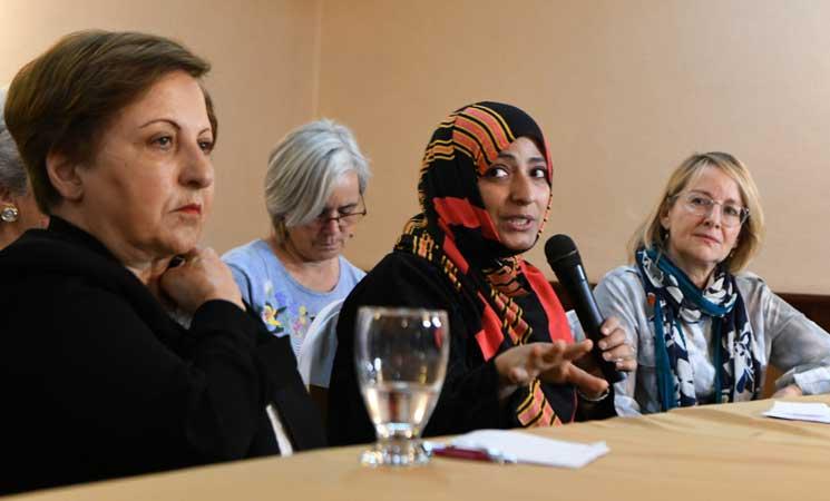 """الناشطة اليمنية """"توكل كرمان"""" تطالب بانشاء محكمة دولية لهذا السبب.. تفاصيل"""