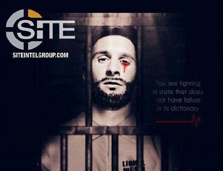 صورة.. ميسي خلف القضبان يبكي دماً وداعش تهدد باستهداف كأس العالم