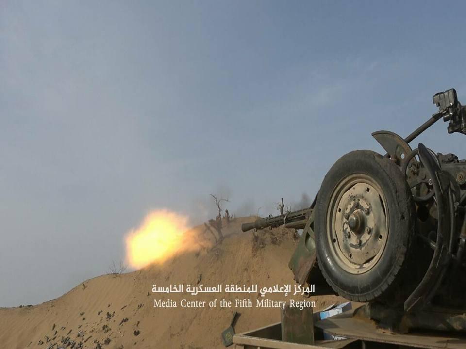 14 مسلحا حوثيا يلقون مصرعهم في مواجهات مع قوات الجيش الوطني في مديرية ميدي