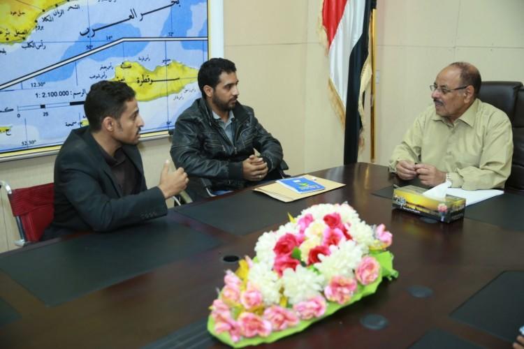 الفريق علي محسن يلتقي رابط رعاية الجرحى المقعدين