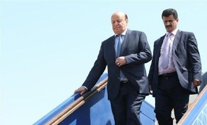 بعد زيارته امريكا والمانيا، الرئيس هادي يصل العاصمة السعودية الرياض