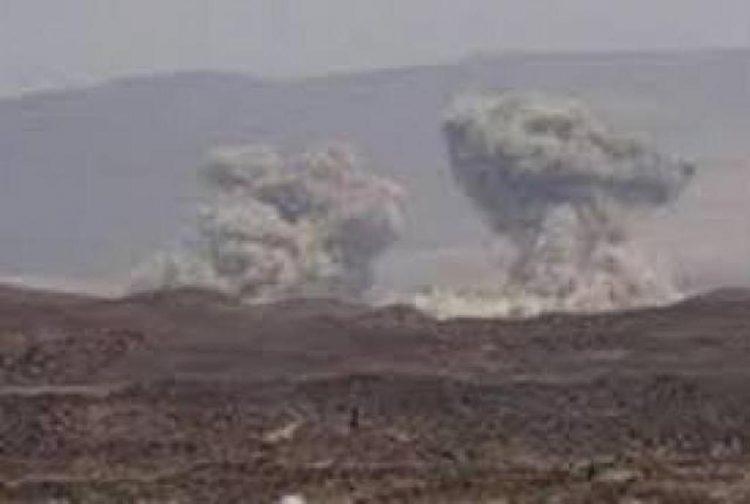 طيران التحالف العربي يشن غارات على مواقع الانقلابيين في صرواح بمارب