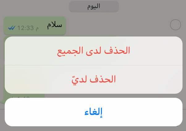 كيف يمكنك حذف رسالة مرسلة في واتساب (صورة)