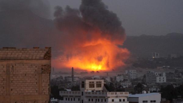 """عاجل.. تواصل الغارات الجوية الأعنف على صنعاء الان """"اماكن الاستهداف"""""""