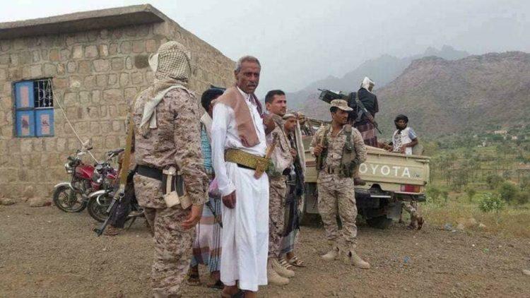 استشهاد قائد المقاومة الشعبية في مديرية مقبنة غربي تعز ومليشيا الحوثي تسيطر على عدة مواقع في المنطقة