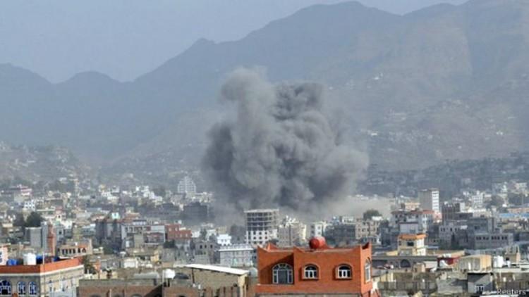 طيران التحالف العربي يشن 6 غارات على مواقع المليشيات الانقلابية في العاصمة صنعاء