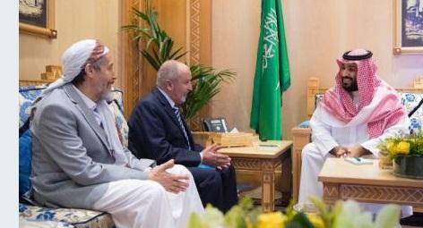 """شاهد .. وسائل الاعلام السعودية تحذف خبر لقاء """"قيادة الاصلاح"""" بولي العهد السعودي بالرياض"""