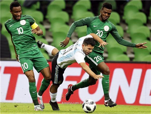 نيجيريا تهزم الارجنتين برباعية في مباراة ودية