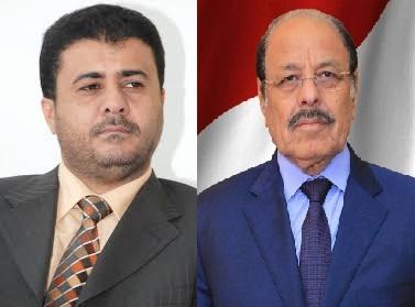 الفريق علي محسن يعزي الشيخ احمد العيسي، ويدين الهجوم الارهابي على منزل العيسي في عدن