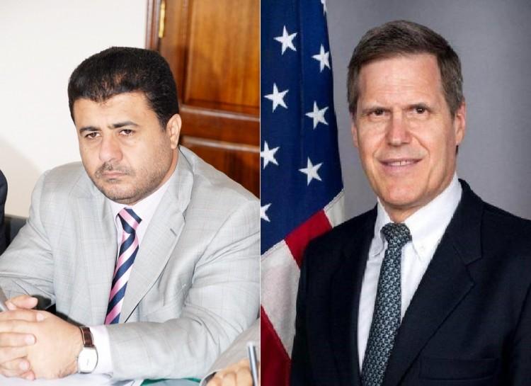 السفير الأمريكي لدى اليمن يعزي الشيخ احمد العيسي