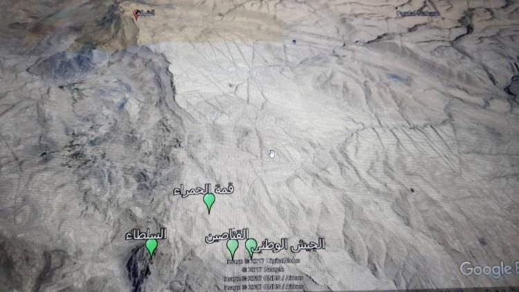 الجيش الوطني يحكم السيطرة على سلسلة جبال الحمراء في نهم