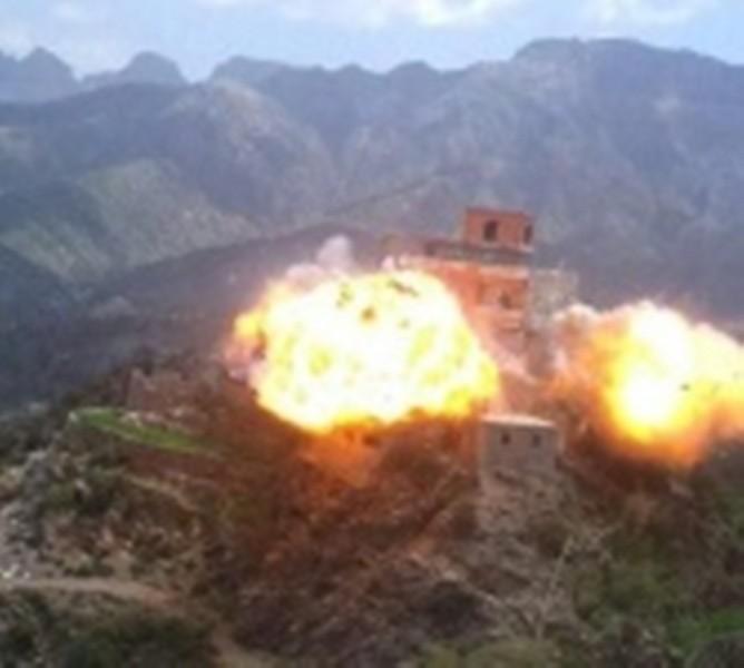 قصف مدفعي متبادل بين الشرعية والمليشيا شمال ميدي بمحافظة حجة