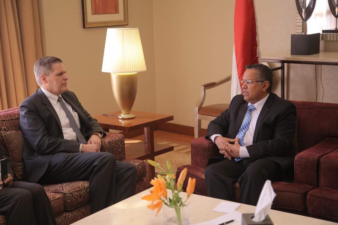 تفاصيل اللقاء الذي جمع بن دغر مع السفير الامريكي لدى اليمن!