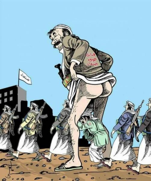 """شاهد تفاصيل """"الكاريكاتير"""" الذي اغضب مليشيا الحوثي وجعلها تبحث عن صاحبه"""