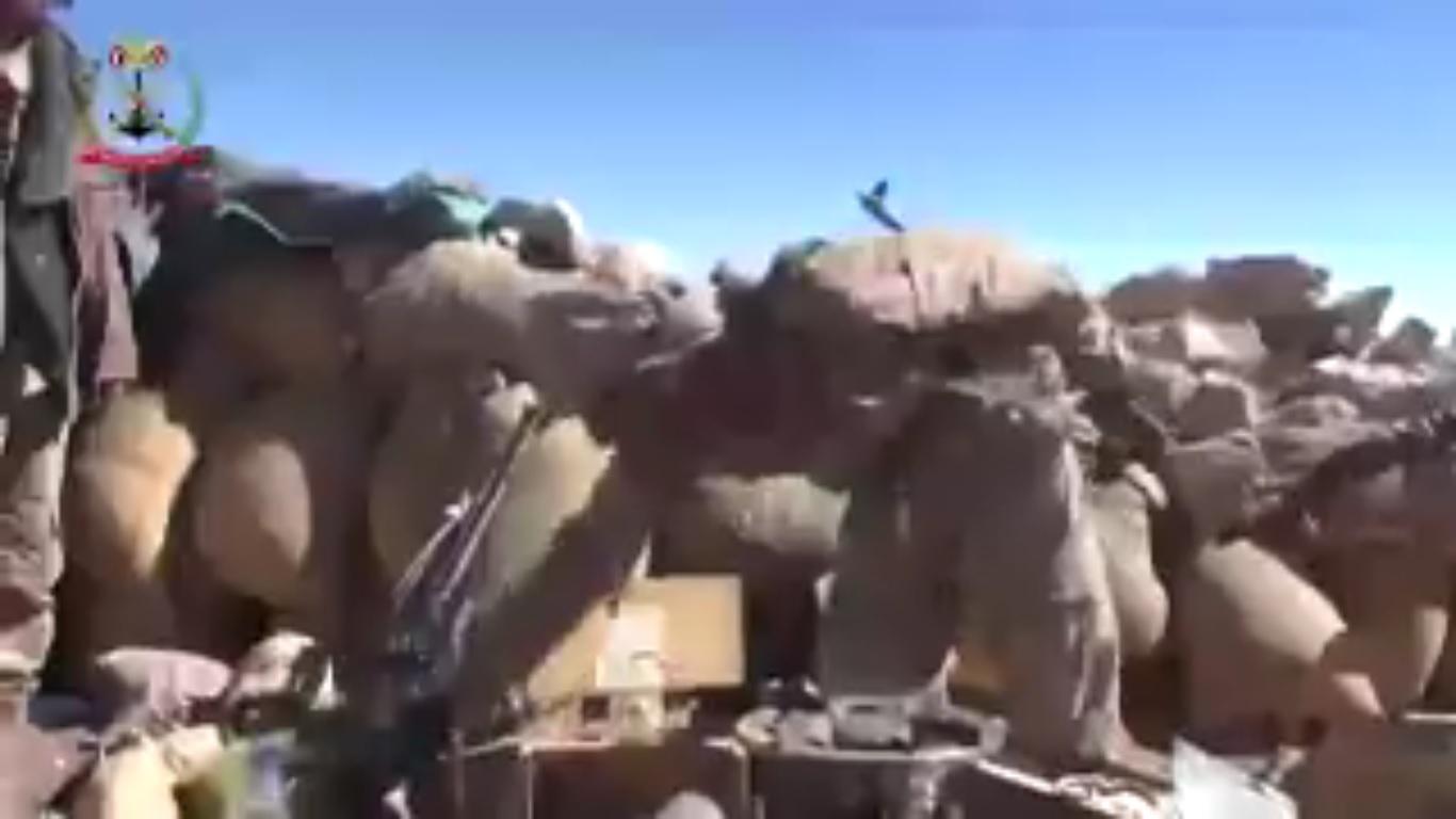 """شاهد بالفيديو متارس وتحصينات الحوثيين في """"تبة القناصين"""""""