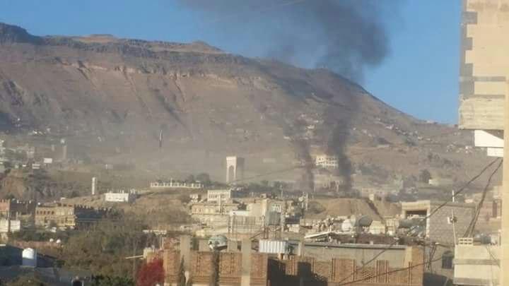 عاجل.. شاهد بالصورة.. انفجارات عنيفة تهز العاصمة صنعاء.. الاماكن المستهدفة