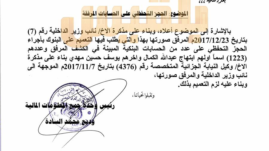 في أول تعليق حقوقي على قائمة حجز الأموال في اليمن… مصادرة الممتلكات جريمة إضافيه