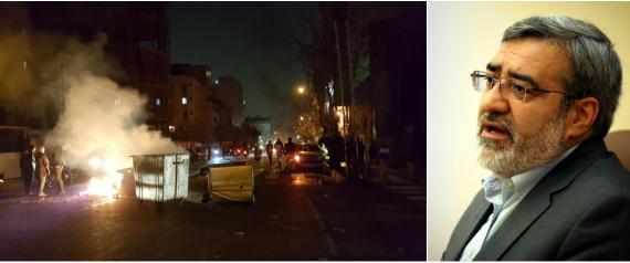 """وزير الداخلية الإيراني يهدد المتظاهرين ويقول بانهم """"سيدفعون الثمن"""""""