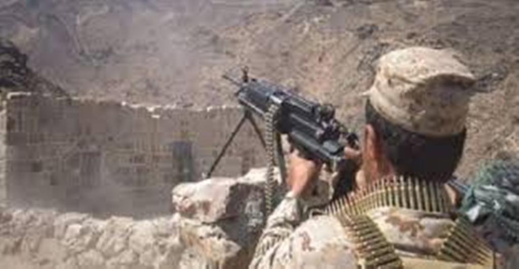 الجيش الوطني يتصدى للمليشيا بالصلو