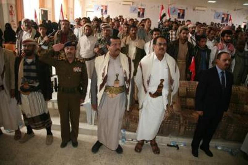 المؤتمر الشعبي في مأرب يرفض ما صدر عن بعض قيادات المؤتمر في صنعاء ويؤكد تمسكه بقيادة هادي