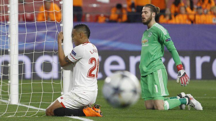 دي خيا ينقذ مانشستر يونايتد من طوفان اشبيلية في دوري ابطال اوروبا