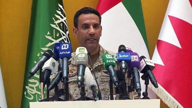 التحالف العربي يوضح حقيقة استهداف شاحنة إغاثية