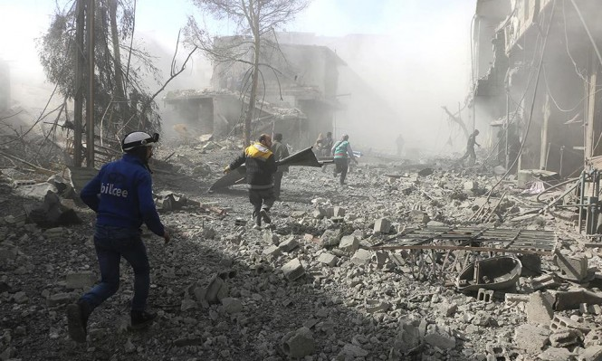قوات بشار الاسد تقصف الغوطة الشرقية لليوم السادس على التوالي، وسقوط مئات القتلى