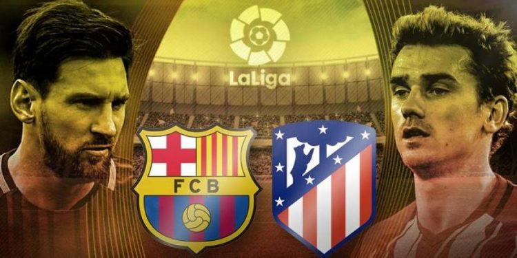 تعرف على تشكيلتي المتصدر برشلونة والوصيف اتلتيكو مدريد في مباراة اليوم