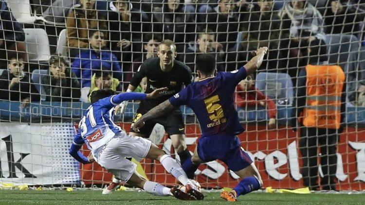 بضربات الترجيح.. برشلونة يحقق كأس السوبر الكتالوني على حساب اسبانيول