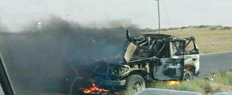 مليشيا الحوثي تقصف قرى حيس وطيران التحالف يستهدف طقما لمليشيا الحوثي في المنصورية