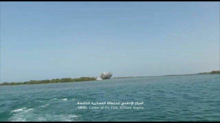 قوات التشكيل البحري في محافظة حجة تعثر على الغام بحرية جديدة قبالة سواحل ميدي