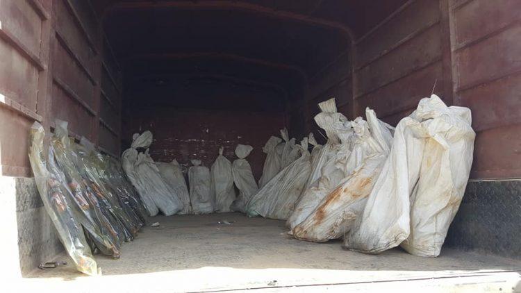 قوات الامن الخاصة تصادر شحنة اسلحة كانت في طريقها الى صنعاء.. صور