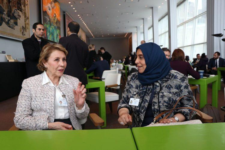 لقاء بين وزيرة الشؤون الاجتماعية في اليمن مع وزيرة المرأة والأسرة في تونس