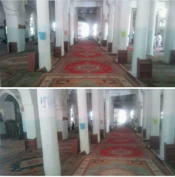 رواد الجامع الكبير في إب يعزفون عن صلاة الجمعة داخله لفرض الحوثيين ترديد شعارهم