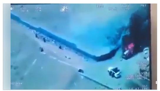 شاهد أول فيديو تصوير جوي لحظة استهداف موكب صالح الصماد من قبل التحالف العربي