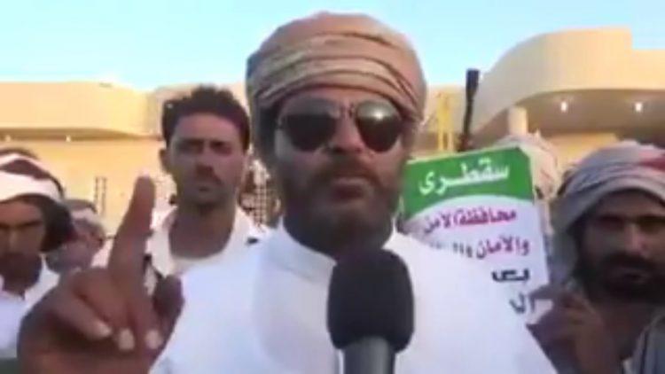 """""""لا تجبرونا على ما لا نريد"""".. الشيخ """"السقطري"""" يوجه رسالة شديدة اللهجة """"للقوات الاماراتية"""""""