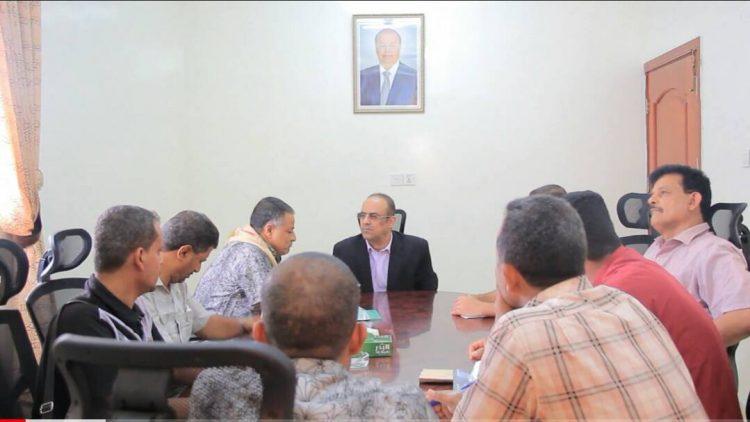 اجتماع برئاسة وزير الداخلية يناقش الاوضاع الامنية في الضالع