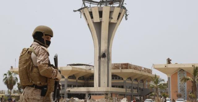 تعرض برج مطار عدن لاطلاق نار