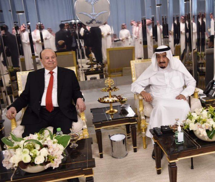 شاهد بالصور.. رئيس الجمهورية يلتقي الملك سلمان في مدينة جدة.. والعليمي يكشف التفاصيل