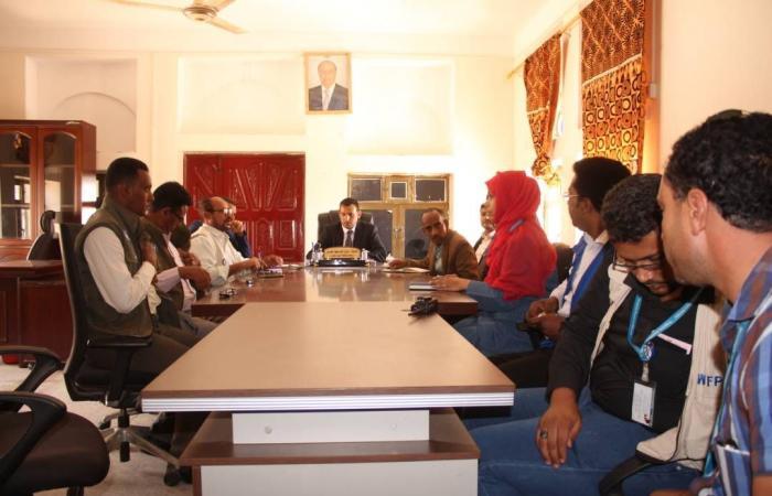 المحافظ رمزي محروس يلتقي وفد منظمات الامم المتحدة للوقوف على احتياجات سقطرى