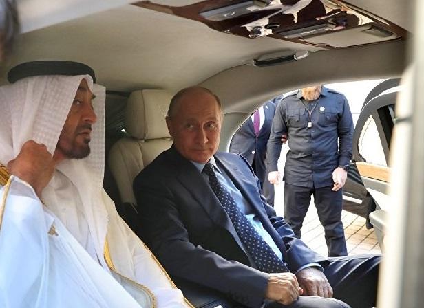 لقاء بين بوتين ومحمد بن زايد في روسيا (فيديو)