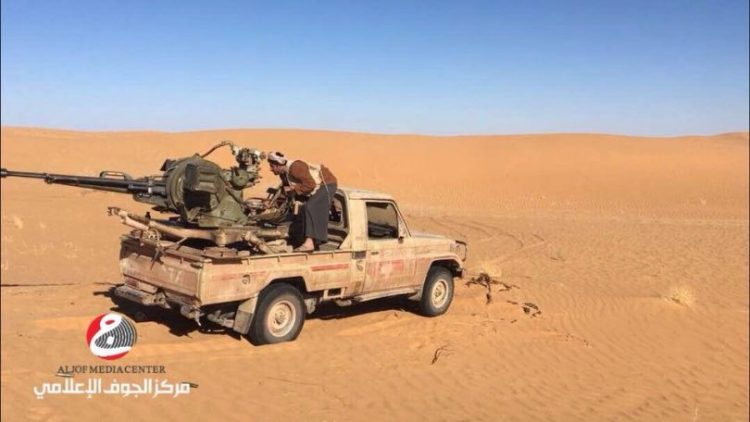 قوات الجيش الوطني تسيطر على مواقع استراتيجية في مديرية برط العنان بالجوف